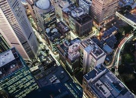 Perspective View Urban Buildings City Aerial